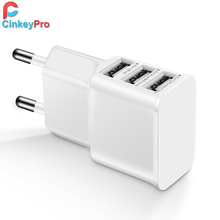 CinkeyPro 5V 2A EU plug 3 USB Adapter Wall Charger smartPhone Device Micro Data Charging For meizu pro4 5 6 HTC One M9 / M8 more