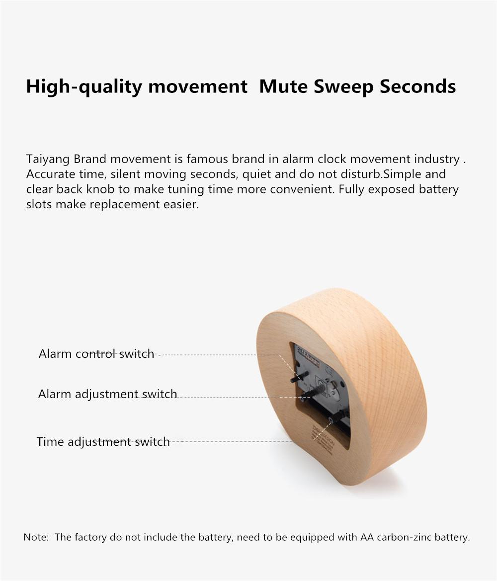 Xiaomi Mute Wooden Alarm Clock (6)
