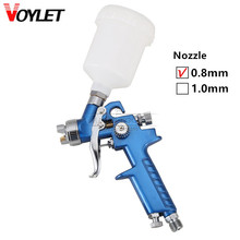 HVLP Gravity Air Spray Gun Nozzle 0.8mm 125ml Cup Low Pressure Paint Sprayer Airbrush Painting Tool Kit