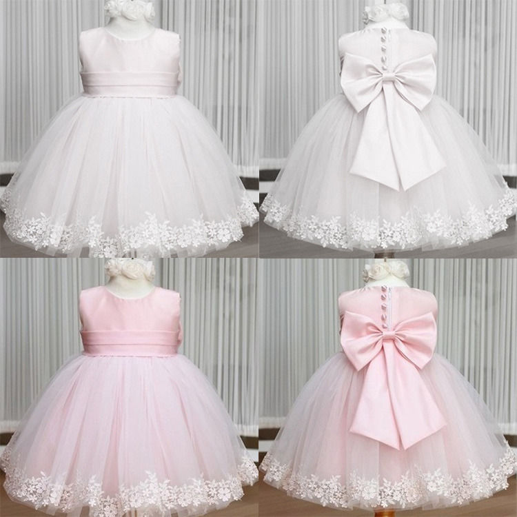 Wedding Cocktail Party Flower Bow Girls Princess Gown Kids Fancy Dresses 2-7Y<br><br>Aliexpress