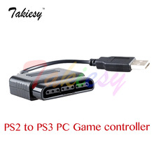 For Sony ps1 PS2 PlayStation Dualshock 2 Joypad GamePad to 3 PS3 PC USB Games Controller Adapter Converter Cable without Driver