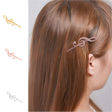 Fashion Bobby Pins Base Settings Filigree Musical Note Pads Hair Clip Hairpins Crafts Findings Gold Color Hair Accessory(China)