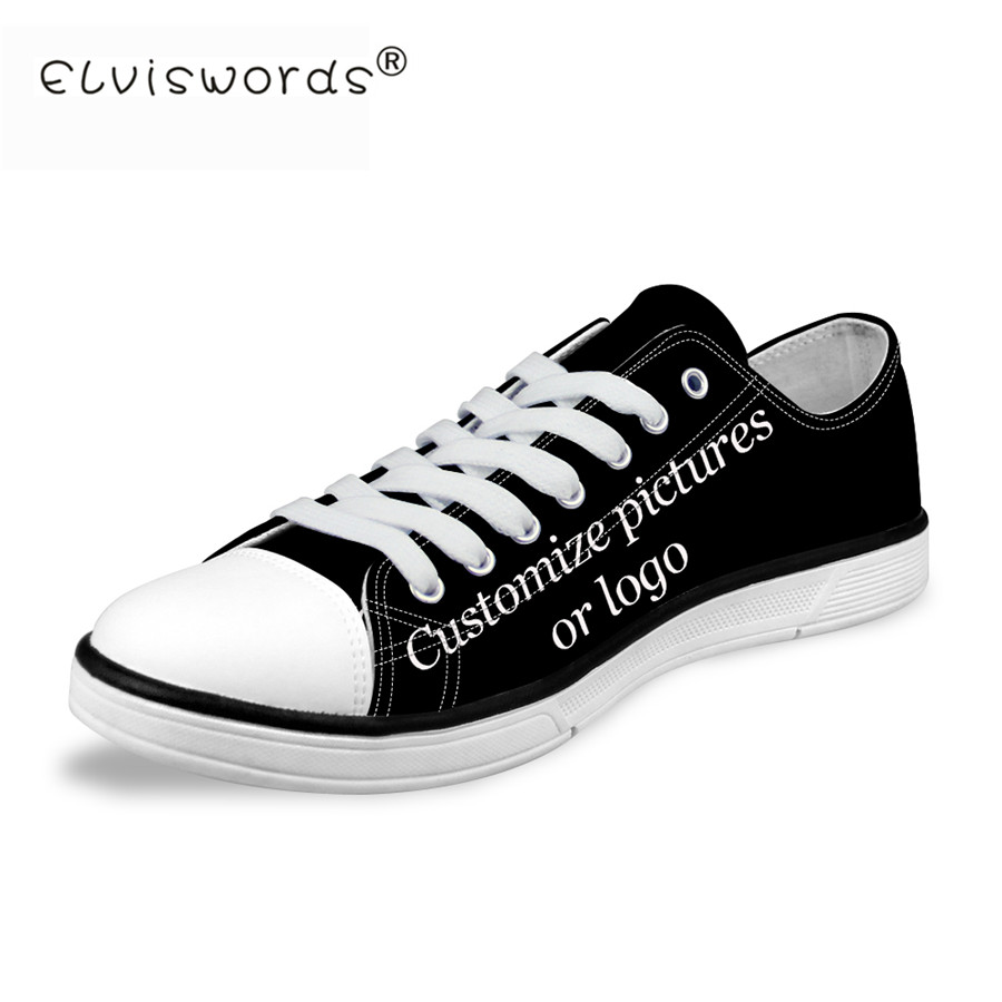 FORUDESIGNS-Custom-Images-or-Logo-Women-Fashion-Casual-Canvas-Shoes-Low-Top-Lace-up-Vulcanized-Shoes
