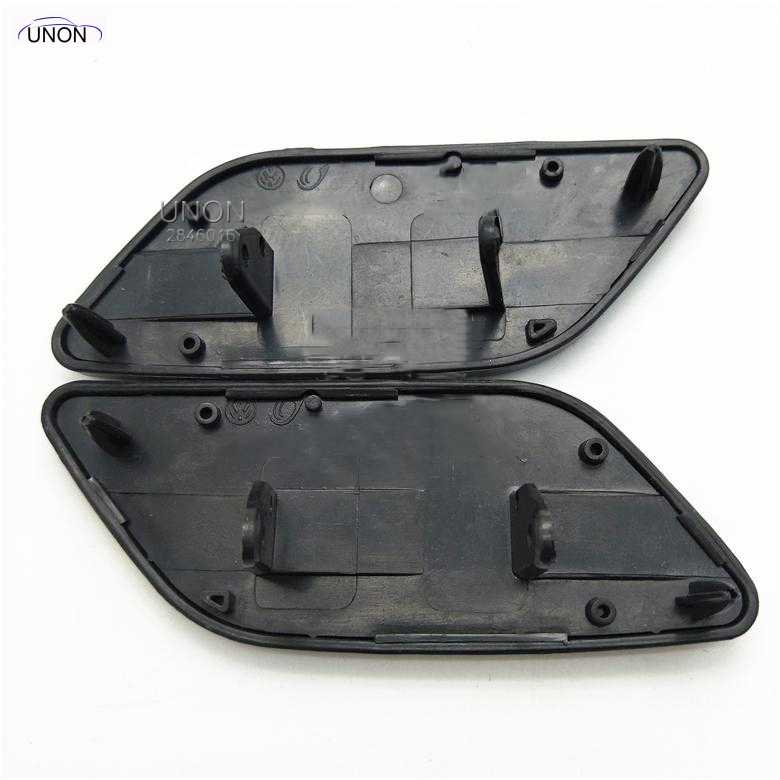 2 Pcs For VW Passat B5 2 8 V6 Headlight Washer Cover Head Light Lamp Spray Cap Left And Right Side 3B0 955 109 A 3B0 955 110 A