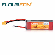 FLOUREON 3S Lipo Battery 11.1V 2200mAh 25C XT60 Plug for RC Helicopter BC40 series RC Airplane RC Hobby DIY Red