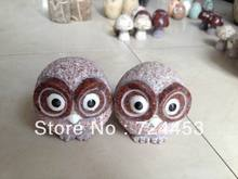 Home and garden decoration natural stone pure hand work stone boulder owl