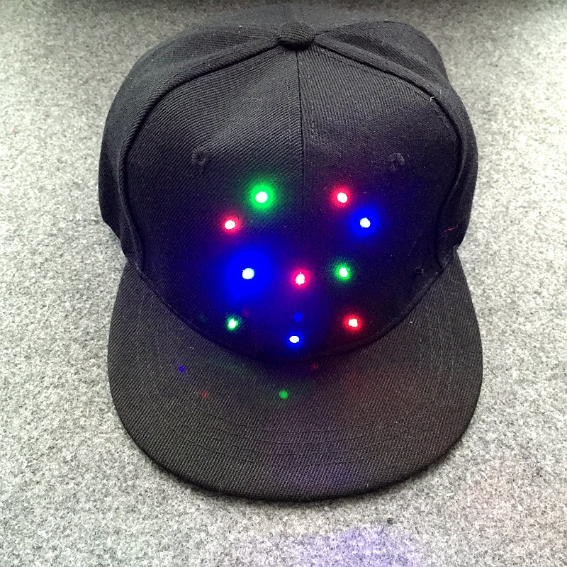 LED light Benn baseball cap Hip-hop hat Fashion lovers hat Stage personality Glow baseball cap<br><br>Aliexpress
