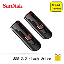 100% Original SanDisk Pen Drives 16GB 32GB 64GB 128GB 256GB Stick Pendrive Flashdisk USB 3.0 Flash Drive USB Key U Disk for PC(China)