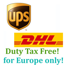 The link for Europe buyer to pay Extra fee for Ship by UPS or DHL with Duty free 5kg box(Hong Kong)