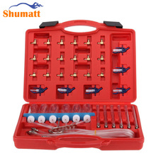 Diesel Common Rail Injector Flow Meter With 24 Adaptors Fuel Pipe Line Tester Diagnosis Tool Set 6 injectors tested together(China)