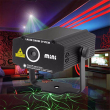 Mini Laser Stage Light DJ Home Party Lights For Sale Red Green Luces Discoteca Laser Projetor Lumiere Disco Lighting Equipment(China)