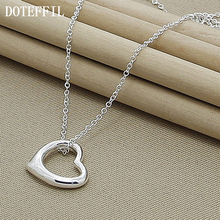 925 Sterling Silver Heart Necklaces Pendants For Women Luxury Love Necklace Sterling Silver Jewelry
