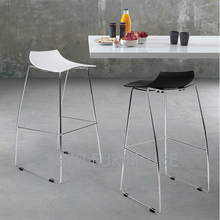 Minimalist Modern Design Plastic and Metal Steel Bar Stool Nice Popular Bar Furniture Bar Chair Living Room Counter Stool-2PCS(China)