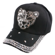 promotion popular children hip hop leopard novelty baseball cap crystal rhinestone luxury boy girl summer snapback hat sunhat