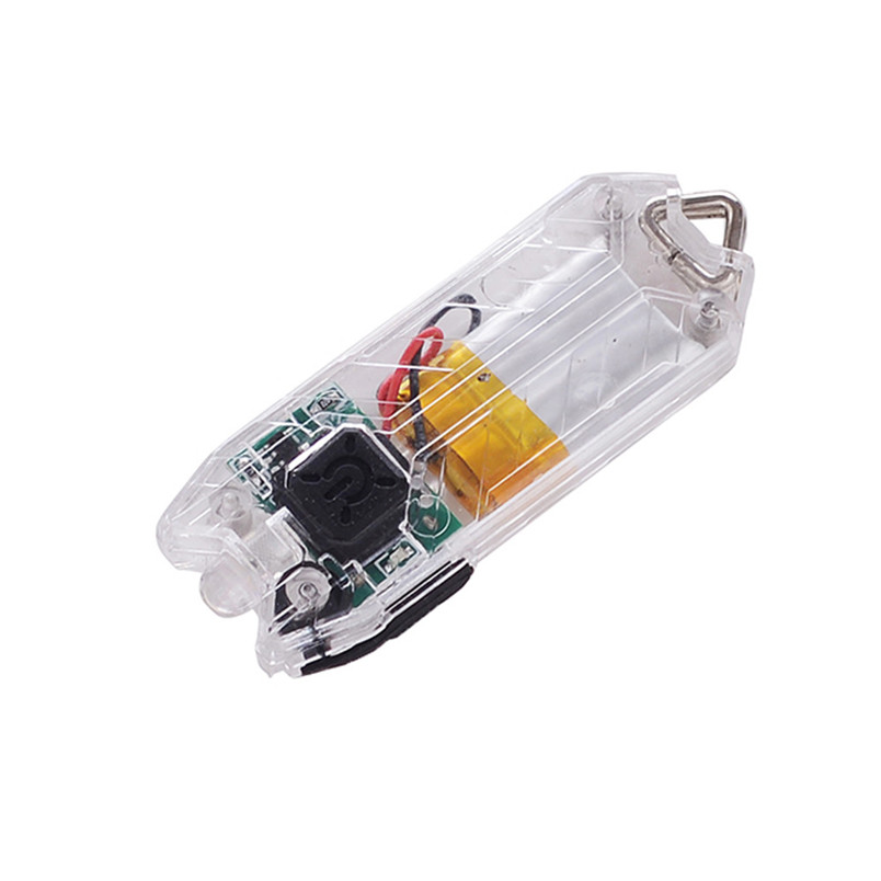 Tube 45LM 2 Modes Mini USB LED Flashlight Keychain Rechargeable Light Lamp Torch Keyring NRJ13