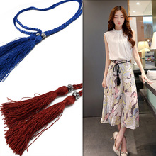 Braided Fringed Bow Belt Women Fashion Accessories Unique Exquisite Birthday Romantic Gift Beautiful Elegant Jewelry QR200(China)