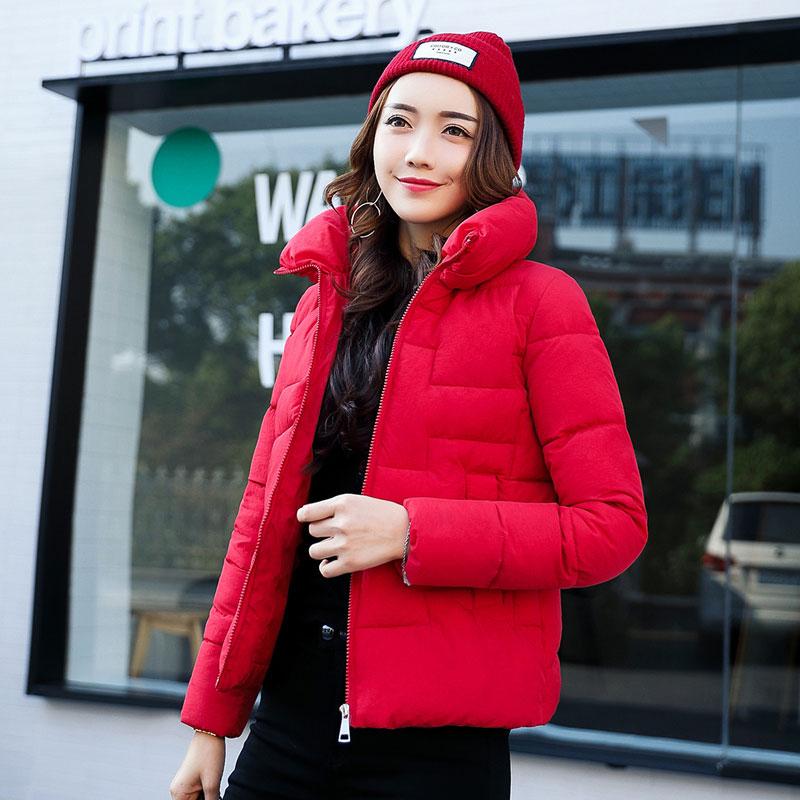 Solid Color Women Winter Jacket Women Fashion Padded Coat New Thick Warm Overcoat Women Parka Wadded Casaco Feminino Female coatÎäåæäà è àêñåññóàðû<br><br>
