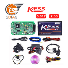 Master Online EU Red KESS V5.017 KESS V2 5.017 No Token KTAG V7.020 OBD2 Manager Tuning Kit K-TAG 7.020 V2.23 ECU Programmer(China)