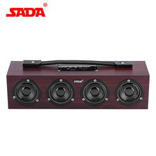 SADA A1 Portable Wooden Wireless Bluetooth Speaker Computer Subwoofer Stereo Bass Multimedia Speakers Support TF Card