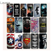 Lavaza 22af Bat man Captain America Hard Transparent Case Cover for Samsung Galaxy S3 S4 S5 Mini S6 S7 S8 Edge Plus Case(China)
