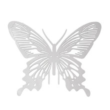 "DoreenBeads Filigree Stainless Steel Embellishments Findings Butterfly Silver Tone 4.6cm(1 6/8"") x 3.8cm(1 4/8""), 1 Piece"