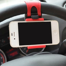 Universal Car Auto Steering Wheel socket navigate Case Holder Stand for iPhone 4 5 6 6S Plus border for cell phone GPS MP4 PDA(China)