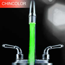 1pcs Single color LED Water Faucet Green Red Blue Light Glow Shower Kitchen Tap TE tools R