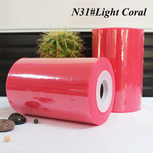 "100% nylon Light Coral Red color tutu tulle roll 6""*100yards"