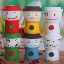 Very cute cartoon doll ceramic cup Festive Smile expression milk cup Funny coffee cup(China)
