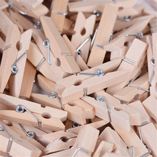 50 PCS Mini Wooden Clothes Photo Paper Peg Pin Clothespin Craft Clips Home Decoration 35mm Wholesale