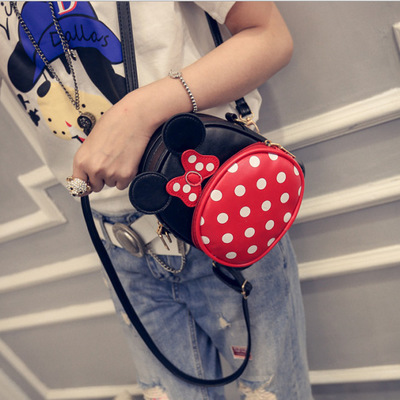 The little girls PU leather backpacks lovely Mickey Mouse ears and big bowknot<br><br>Aliexpress