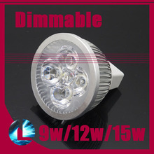 10pcs 9w 12w 15w MR16 Dimmable CREE LED Spotlight Bulb High Power Cool Warm White Light Modern Lamp DC 12V Support Dimmer