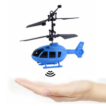 Kids Toys Factory Price Drop Ship Flying Mini RC Infraed Induction Helicopter Aircraft Flashing Light Toys(China)