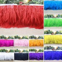 2yard Turkey Feather Ostrich Feather Dance festival party hat boots Clothing wedding accessories decoration Ribbons