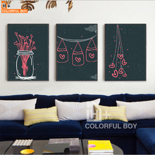 COLORFULBOY Modern Abstract Starry Sky Cartoon Line Drawing Wall Pictures For Kids Room Canvas Painting Art Print Poster Decor(China)