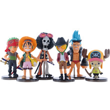 BOHS Anime One Piece Mini Action Figures The Straw Hats Luffy Figure Toys 6pcs/set(China)