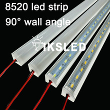V shell Profile 8520 LED rigid Strip 50cm 36leds led strip bar for cabinet closet kitchen with cover double chip supper bright(China)