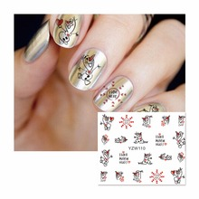 FWC Nail Sticker Cartoon Water Adhesive Foil Nail Art Decorations Tool Water Decals 3d Design Nail Sticker Makeup 110(China)