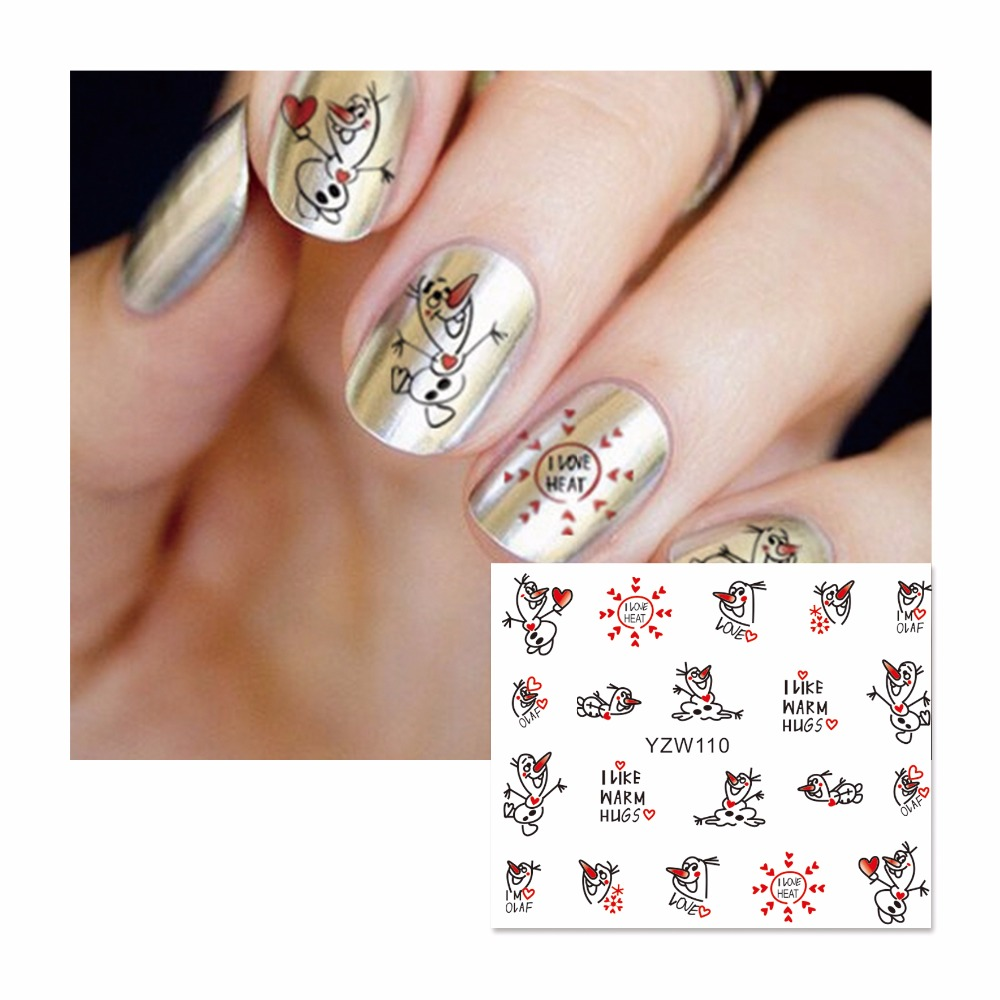 FWC Nail Sticker Cartoon Water Adhesive Foil Nail Art Decorations Tool Water Decals 3d Design Nail Sticker Makeup 110(China (Mainland))