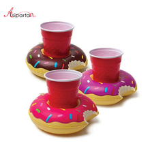 Asipartan 3pcs/set Party Supplies Donuts Inflatable Water Floating Cup Holder Drink Coke Stand Swimming Bath Pool Toy For Party