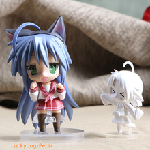 Lucky Star Lzumi Konata Action Figure 27# Cute Lzumi Konata Doll PVC ACGN figure Garage Kit Brinquedos Anime 10CM