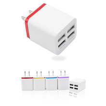 Mokingtop Universal 5V 2.1A 4 in 1 Port USB US Plug Home Travel Wall Charger AC Power Adapter for Phone Mobile Phone Charger(China)