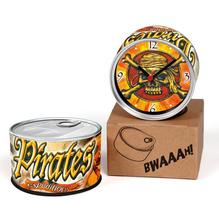 Pirates Expedition 2pcs/lot Pirates of the Caribbean Ghost Kitchen Fridge Magnets Aluminum Can Wall Clocks,Metal Tin Desk Clocks