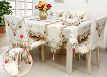 European embroidery table cloth mat tablecloth Flower rose lace tablecloth high quality runner square round Garden wholesale B32