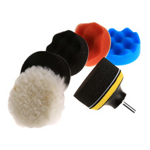 8Pcs/Set 3inch Polishing Buffing Pad Sponge Kit Car Polisher W/ M10 Thread Adapter Car Wash Auto Detailing Cleaning Car Styling(China)