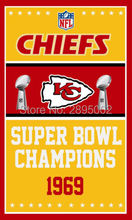 Kansas City Chiefs Super Bowl Champions Man Cave Sports Banner Basketball Flag 3' x 5' Custom Hockey Baseball Football Flag