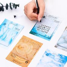 Nature Color Have Blue Grey Ice Self-Adhesive N Times Memo Pad Sticky Notes Post It Bookmark School Office Supply(China)