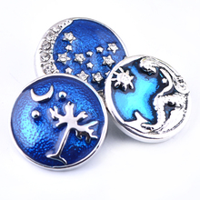 Mix Designs Stock jewelry Interchangeable Snap Button Charm new 18mm enamel metal alloy Snaps jewelry fashion gifts