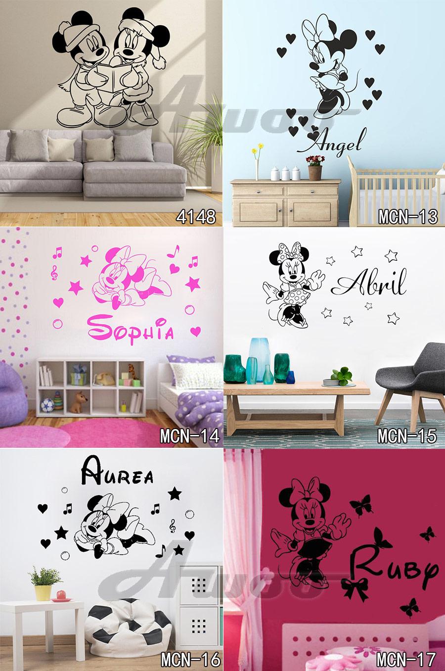 HTB1VXVoRpXXXXcBaXXXq6xXFXXXQ - Baby Mickey Mouse Warm Custom Name Wall Sticker For Kids Room