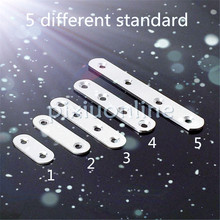 1pc Sale DS439 5Sizes Choose Stainless Steel Multi-holes Straight Corner Bracket DIY Furniture Making Chair Desk